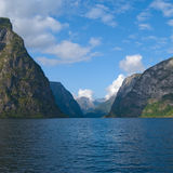Naeroyfjord in Norway, UNESCO World Heritage Site Royalty Free Stock Photos