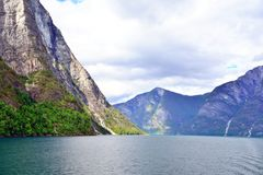 Naeroyfjord in Norway. Unesco World Heritage site. Stock Photos