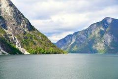 Naeroyfjord in Norway. Unesco World Heritage site. Stock Photography