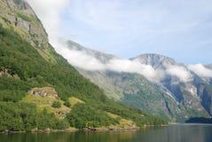 Naeroyfjord in Sognefjord Stock Photos