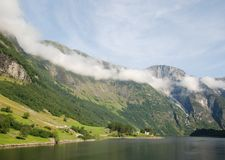 Naeroyfjord in Sognefjord 3 Royalty Free Stock Photography