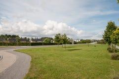 Naestved的郊区在丹麦 免版税图库摄影