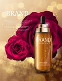 Nafciana esencja Nawadnia koncentrat butelki szablon dla reklam royalty ilustracja