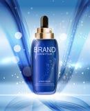 Nafciana esencja Nawadnia koncentrat butelki szablon dla reklam ilustracji