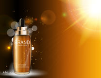 Nafciana esencja Nawadnia koncentrat butelki szablon dla reklam lub Mag ilustracja wektor