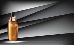 Nafciana esencja Nawadnia koncentrat butelki szablon dla reklam lub Mag royalty ilustracja