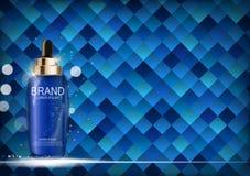 Nafciana esencja Nawadnia koncentrat butelki szablon dla reklam lub magazynu tła 3D Realistyczny wektor ilustracji