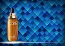 Nafciana esencja Nawadnia koncentrat butelki szablon dla reklam lub magazynu tła 3D Realistyczny wektor ilustracja wektor