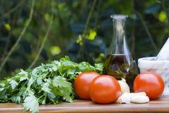 Nafciana oliwka i warzywa Zdjęcie Stock