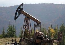 Nafciana pompa w Karpackich górach obrazy royalty free