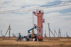 Nafciana pompa w zachodnim Kazachstan Zdjęcia Stock