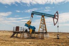 Nafciana pompa w zachodnim Kazachstan Obraz Royalty Free