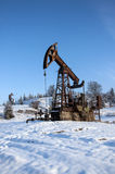 nafciana przemysł pompa Russia Przemysł paliwowy equipment Takielunek dla ekstrakcja oleju Zdjęcie Stock
