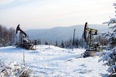 nafciana przemysł pompa Russia Przemysł paliwowy equipment Takielunek dla ekstrakcja oleju Obraz Stock