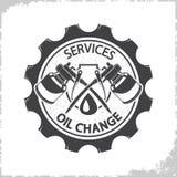 Nafciana zmiana usługuje loga ilustracji