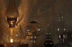 Nafciane lampy Ornament na mantelpiece Źródło światła Obrazy Royalty Free