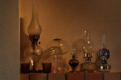 Nafciane lampy Ornament na mantelpiece Źródło światła Obrazy Stock