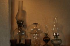 Nafciane lampy Ornament na mantelpiece Źródło światła Fotografia Royalty Free