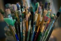 Nafcianej farby muśnięcia Fotografia Stock