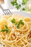 nafciany czosnku spaghetti Zdjęcie Royalty Free