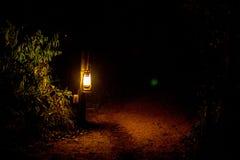 Nafciany lampion przy nocą zdjęcia royalty free