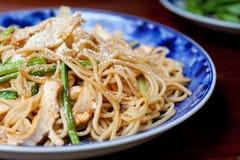 nafciany oliwny smażony spaghetti Obrazy Royalty Free