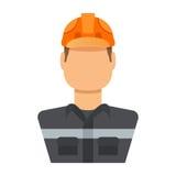 Nafciany pracownik odizolowywający na białej tło ilustraci Obrazy Stock