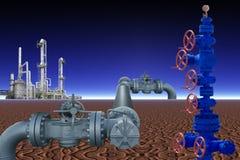 NAFCIANY przemysł gazowy Obraz Royalty Free