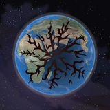 Nafciany spływanie z ziemi obraz abstrakcyjne Obraz Royalty Free
