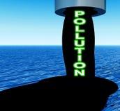 Nafciany Zanieczyszczenie   ilustracji