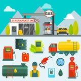 Nafciany zbiornik w ładunku usługowego terminal systemu zasilania paliwowego magazynu benzynowego oleju rurociągowej fabrycznej s Zdjęcia Royalty Free