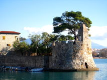 nafpakto гавани Греции Стоковые Изображения RF