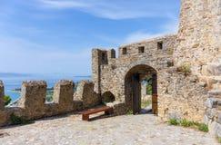 Nafpaktos Castle gate, Greece Royalty Free Stock Photography