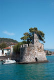 Nafpaktos Greece,port side lighthouse closeup Central Stock Images