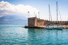 Nafpaktos harbor Stock Images