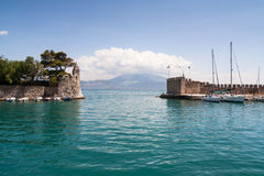 Nafpaktos harbor Royalty Free Stock Photos