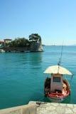 Nafpaktos port entrance. The beautiful port of Nafpaktos, Greece royalty free stock photo