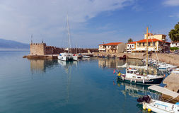 Nafpaktos town harbor, Greece Stock Photo