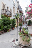 Nafplio Blooming Street Greece Royalty Free Stock Photo