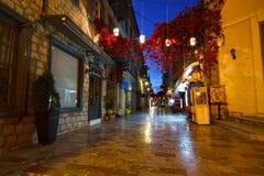 Nafplio centrum, Grekland Arkivfoton