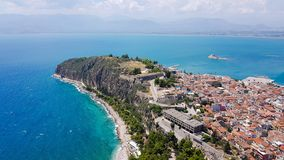 Nafplio city in Greece. Peloponnese, Greece royalty free stock images