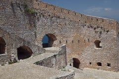 Nafplio, Grecia, castello di Palamidi Fotografie Stock Libere da Diritti