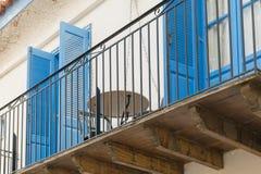 Nafplio, Grecia 28 dicembre 2015 Bello balcone variopinto a Nafplio in Grecia Fotografia Stock