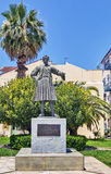 Nafplio, Greece. Statue of King Otto in Nafplio city, Greece stock images