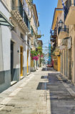Nafplio, Greece. Streets in old part of the city of Nafplio royalty free stock image