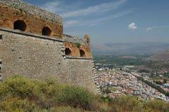 Nafplio, Greece, view from Palamidi Royalty Free Stock Photography