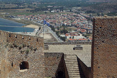 Nafplio, Greece, view from Palamidi Royalty Free Stock Image