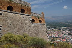 Nafplio, Greece, view from Palamidi Stock Photos