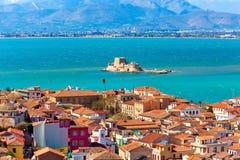 Nafplio, Griechenland-Vogelperspektive stockfotos