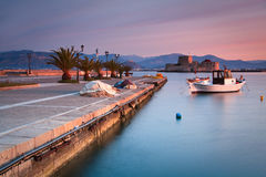 Nafplio harbour, Greece. Stock Images